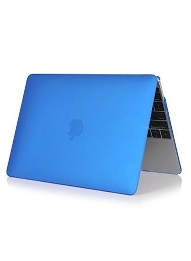 """Mcstorey MacBook Pro A1278 13.3"""" Kılıf Kapak Koruyucu Ruberized Hard Incase Mat Mavi"""